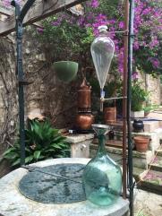 Destilación y decocción de plantas silvestres